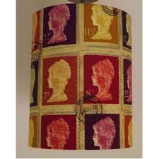 large postage stamp lampshade red rugs