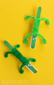 arts and crafts to do at home with toddlers. craft stick crocodile arts and crafts to do at home with toddlers