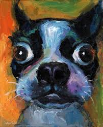 saatchi art artist svetlana novikova painting cute boston terrier puppy dog portrait painting
