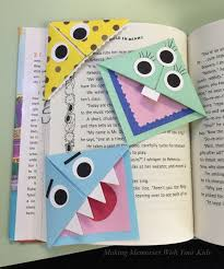 making book mark diy fun corner bookmarks for kids