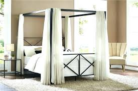 decoration: Amazing Wrought Iron Canopy Bed With Black Pet Beds ...