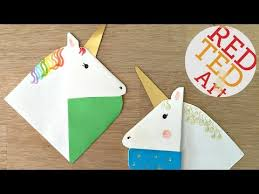 unicorn bookmarks with jenny from origami tree nextup 2018 red ted art