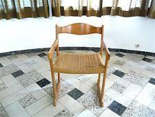 danish modern armchair paper cord seat mid century chair vine stuhl 1960s