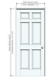 Standard Exterior Door Height Size Of Standard Bedroom Door Surrounding Standard  Door Sizes Exterior Chart Source