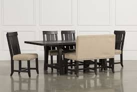 Black Wood Dining Room Chairs Rustic Dining Table Pairs With Dining Room Table With Bench Seats