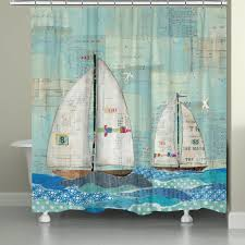at the regatta shower curtain at the regatta by sailboat shower curtain rings shower design nautical
