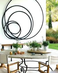 metal outdoor wall art design ideas view 9 of decor large iron dec patio wall hangings outdoor art