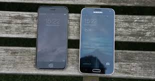 samsung galaxy s5 white vs black. iphone 6 vs samsung galaxy s5 screens white black i