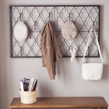 Wall Mounted Coat Rack With Hooks Wall Mounted Coat Racks Umbrella Stands Hayneedle 37