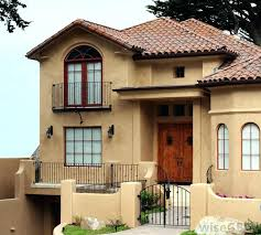 Mediterranean House Exterior Paint Colors Style Homes Stucco Exteriors Red  Windows Mediterranean Style Home Exterior Paint