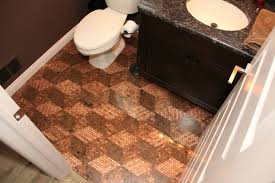 bathroom finished penny
