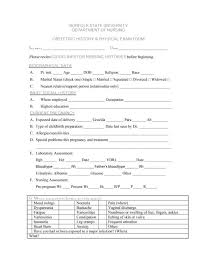 Physical Assessment Form Adorable 44 Physical Exam Templates Forms [Male Female]