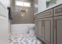Simple bathroom renovation tips that help create the illusion of space. Small Gray Bathroom Ideas A Balance Between Style And Space Conscious Design
