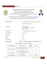 Fresher Resume Format For Teaching Job Resume Format