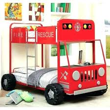 fire truck bed sets furniture of rescue team metal twin firefighter set bedding truc