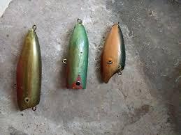 vintage hand carved hand painted wood fishing lure set santa rosa beach florida