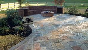 cement patio design poured concrete decor of stamped outdoor remodel within pouring a