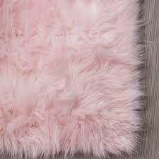 Light Pink Fluffy Rug Serene Faux Fur Shag Rug Light Pink 2 X 3 Faux Fur Area
