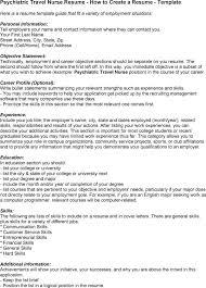 sample resume for nurse  getblown cosample