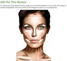 makeup tricks to slim down a full face square round shape face use