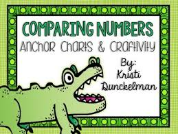 Mr Gator Comparing Numbers Anchor Charts Craftivity