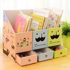 Cardboard Magazine Holders 100pcslot Korean Cute DIY File Holder Book Magazine Organizer Box 58