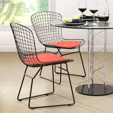 modern classic black white powder coating harry bertoia wire padded chair steel wire side chair colored