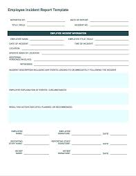 Technical Incident Report Template Free Incident Report