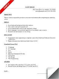 Intern Cv Template Word Internship Resume Sample Spacesheep Co