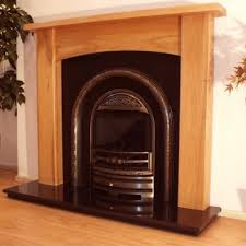 abbey 48 solid light oak fireplace surround