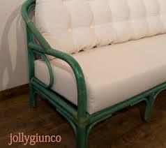 Produzione divani letto in rattan midollino giunco.