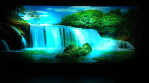 moving picture in motion mirror framed waterfall picture with light sound youtube on water wall art youtube with moving picture in motion mirror framed waterfall picture with light