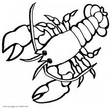 Small Picture Lobster coloring pages