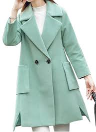 mlg womens wool blended outwear trench coat pea parka jacket b076pz5yr5