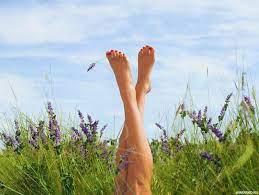 Фото торчащих из травы женских ног — Картинки для аватара