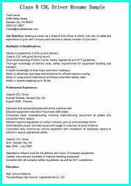 Cv For Driver Job Cdl Truck Driver Job Description For Resume Templates