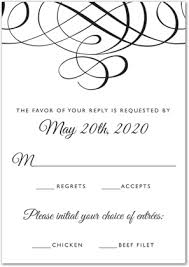 response cards template wedding rsvp cards template