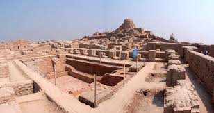 conference on mohenjodaro indus valley civilization the great bath and stupa mound in the background