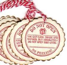 Do Not Open Christmas Gift Tags / No Peeking / by luvs2create2