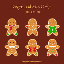 cute gingerbread background. Delighful Cute Cute Collection Of Gingerbread Cookies On A Brown Background Free Vector Inside Gingerbread Background