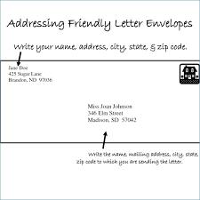 Proper Letter Envelope Format Theunificationletters Com