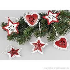 Formano Christbaumschmuck Weihnachtsbaumschmuck 6er Set Rot
