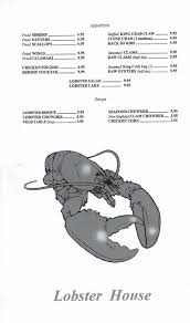 Lobster House Menu, Menu for Lobster ...