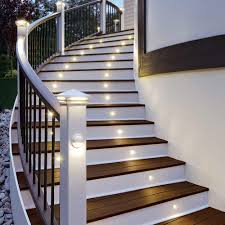 Home Interior:Indoor Staircase Lighting Ideas Curved Outdoor Stair With  Yellow Led Light Ideas