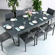 Dining Table Set Beatrice Grey 8 Person Aluminium Glass