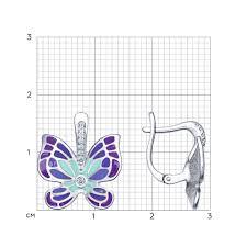 <b>Серьги</b> «<b>Бабочки</b>» <b>SOKOLOV</b> – купить в официальном интернет ...