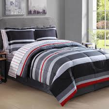 image is loading boys king rugby stripes comforter set gray white