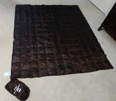 1 lb 700 fill down quilt at Costco. $20 - Backpacking Light & Unmodded pic: Costco $20 quilt Adamdwight.com