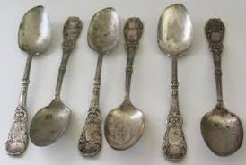 Silver Plate Pattern Chart Antique Vintage Silver And Silverplate Tableware Silverware