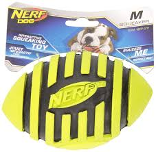 nerf dog toys spiral squeak football 5 inch